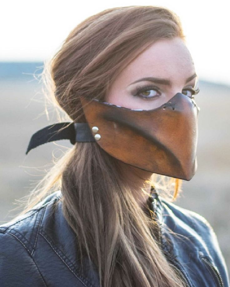 Brown Canary Women's Motorcycle Mask by Weld Burn