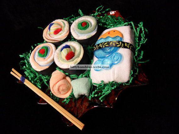 Sushi Diaper Cake from Bitty Bambino