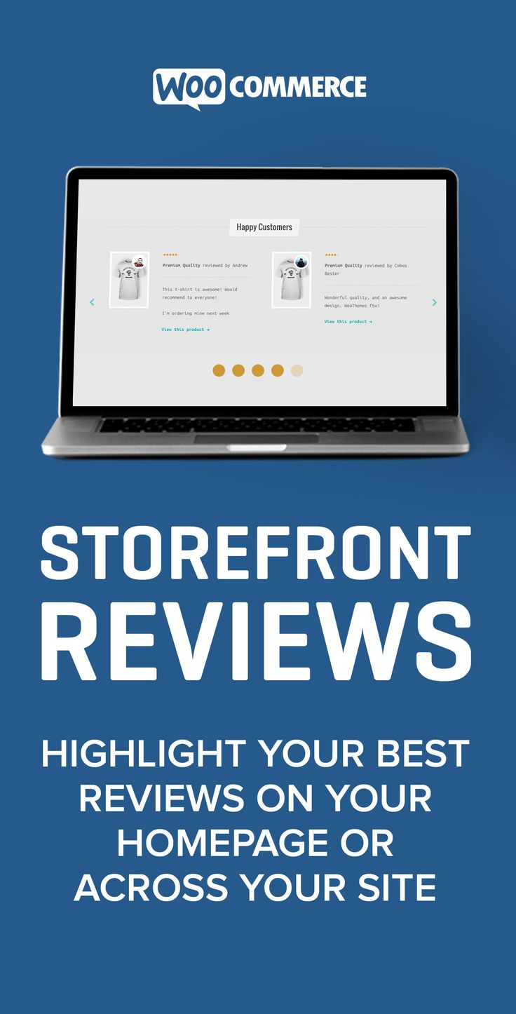 Adding reviews to your Storefront site? An excellent idea.