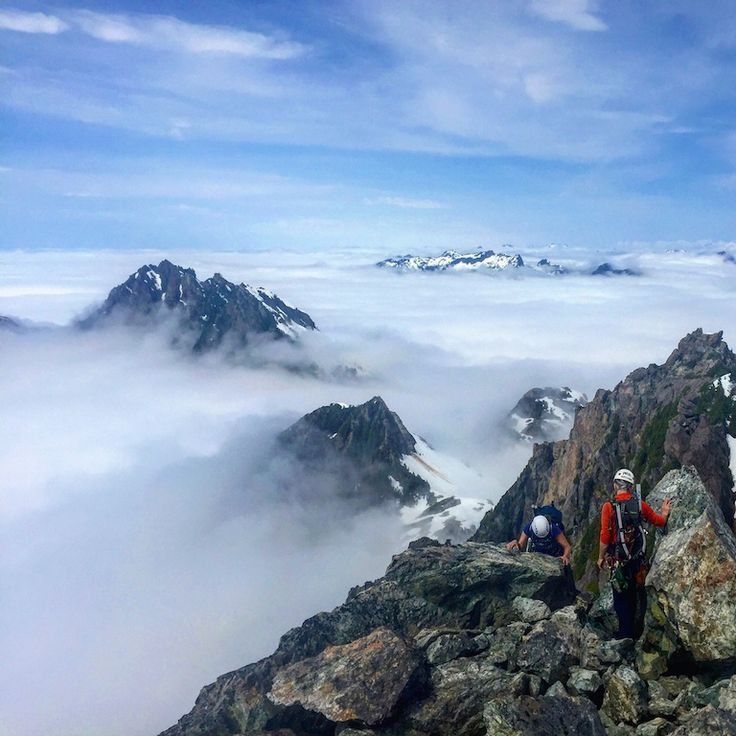 Mountain Climbing on Vancouver Island in British Columbia , location Triple Peak near Ucluelet ~ photo Chris Istace