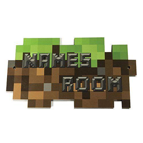 From 7.99 Personalised Gaming Pixel Shaped Design Door Plaque