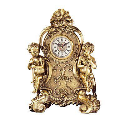 Basil Street Gallery Saint Remy Cherub Table Clock