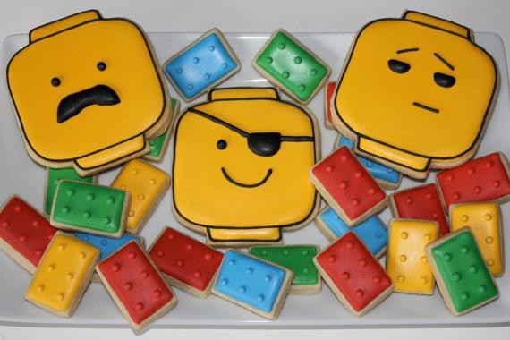 One Dozen Lego Head Cookies by YankeeGirlYummies
