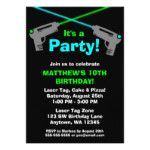 Laser Tag Birthday party invitations and party decor, favors etc.