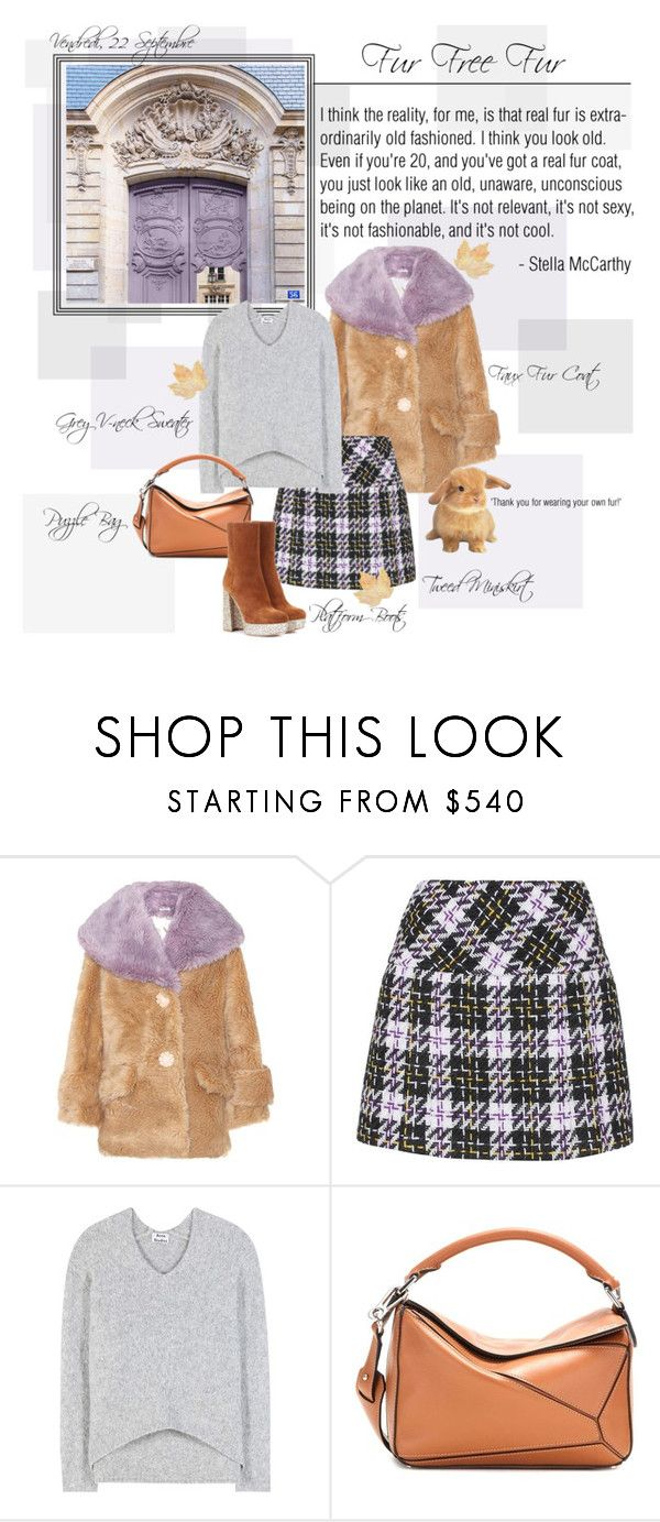 """Mon Style № 125 - September 22, 2017"" by mon-style-diary ❤ liked on Polyvore featuring Miu Miu, Acne Studios, Loewe and fauxfur"