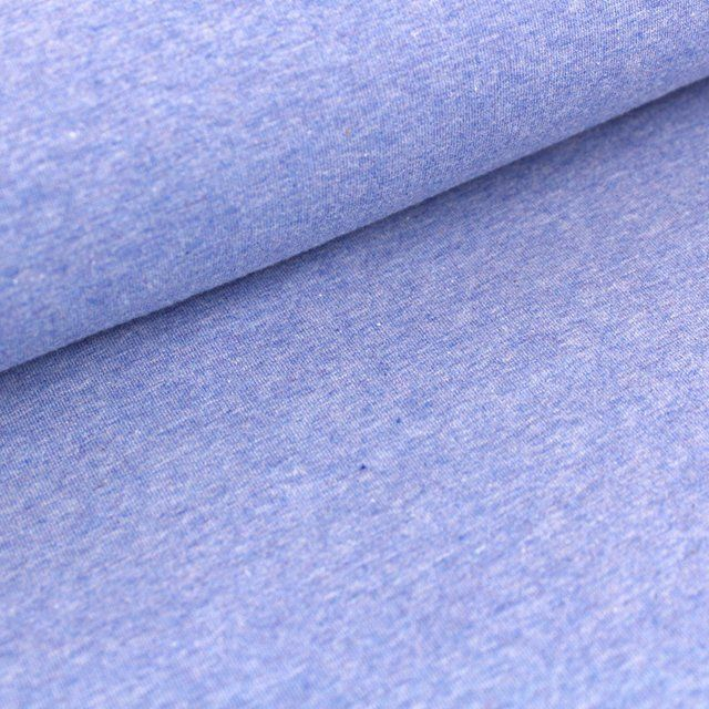 Tela Sudadera French Terry Azul Melange Naturtelas Tela Unas Azules Telas