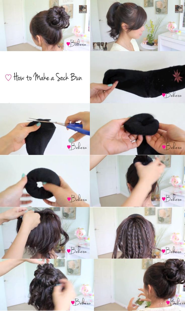 Miraculous 1000 Ideas About Braided Sock Buns On Pinterest Sock Buns Sock Hairstyles For Women Draintrainus