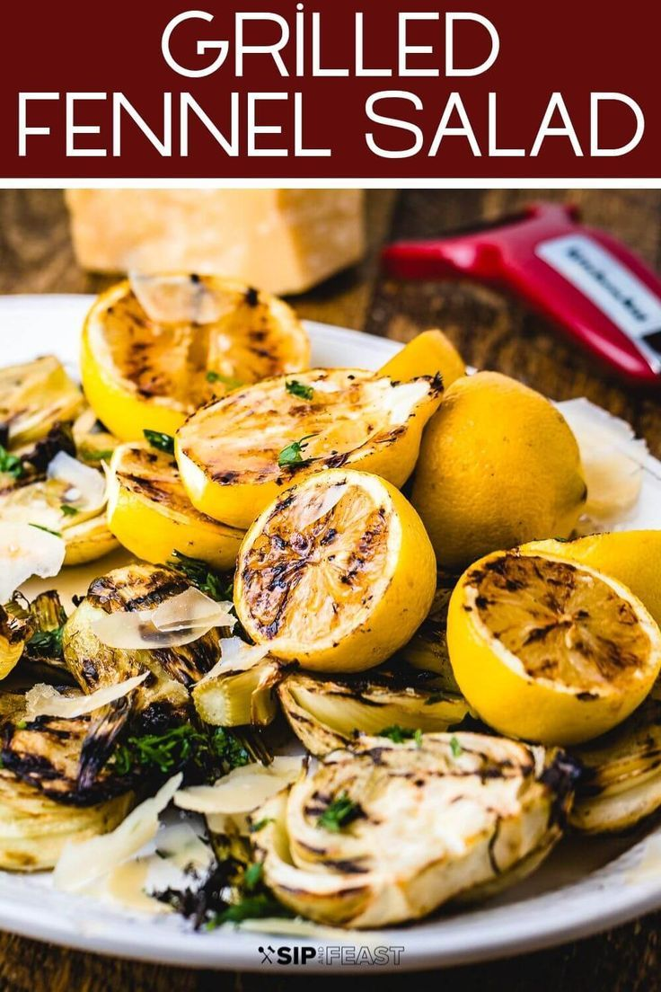 Grilled Fennel Salad With Shaved Parmesan