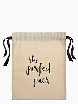 Perfect Pair  Shoe Bag ...for traveling... when shoes have some of the Russia dirt onem ..just perfect to slip shoe in and throw em in suitcase. then they can go beside the clean dresses :)