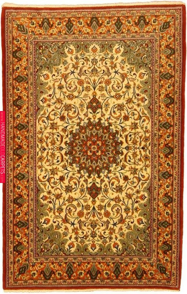 Ivory 3 3 X 5 2 Qom Rug Persian Rugs Esalerugs Rugs Pinterest Rugs Persian Rug And Persian Persian Rug Rugs Carpet Handmade