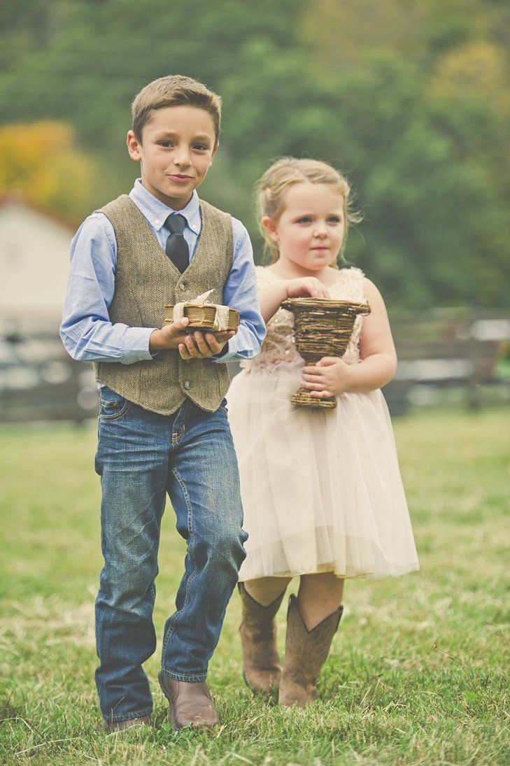 Ring bearer and flower girl | Connection Photography https://www.theknot.com/marketplace/connection-photography-locust-nc-496035