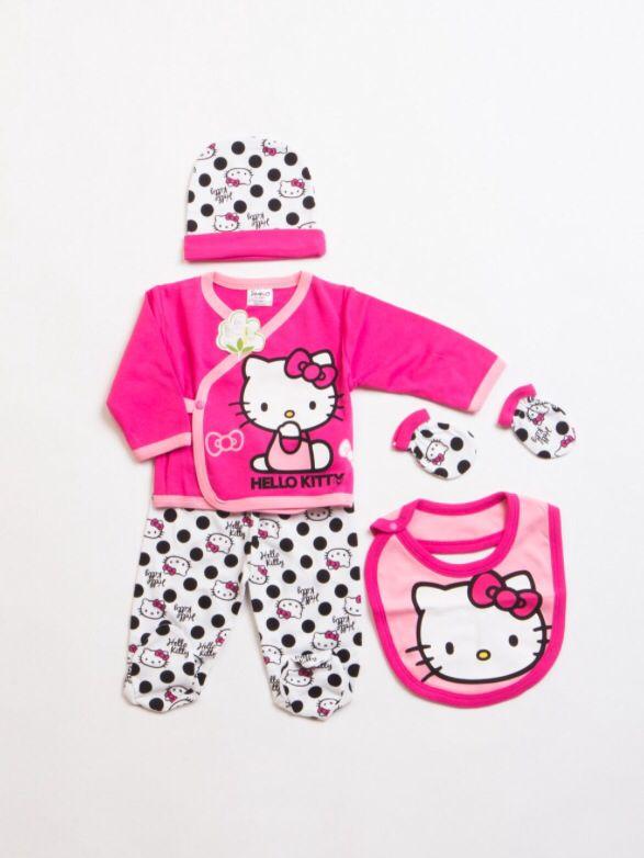 Hello Kitty HK4814 Lisanslı bebek 5li hastane çıkış seti  Dinsey bebek tulumları  Pinterest ...