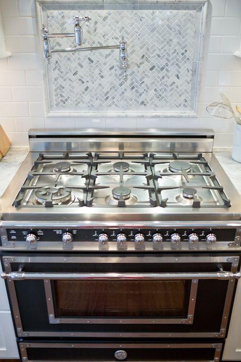 Bertazzoni Heritage Collection Range, Transitional, kitchen, Britt Lakin Photography