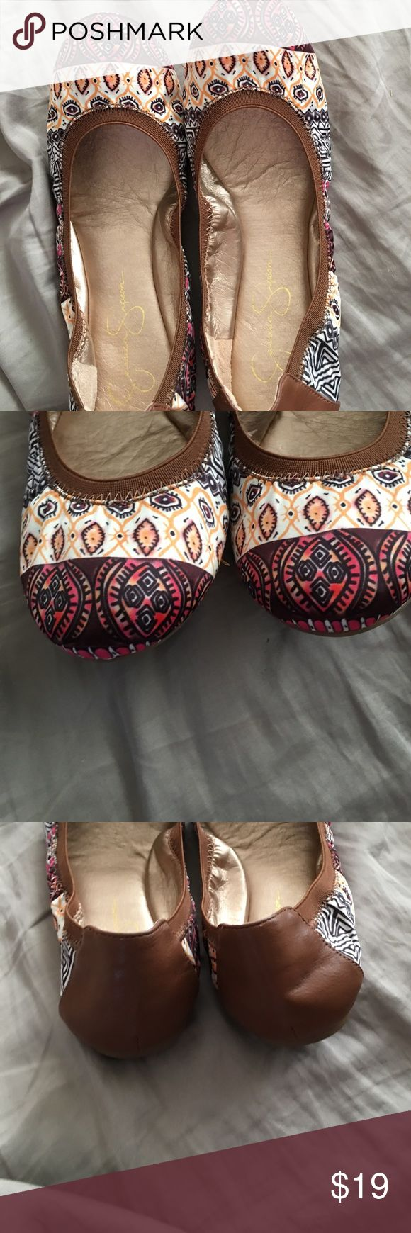 I LOVE THESE SHOES! Size 8.5B  Jessica Simpson NO OFFERS PLEASE THIS IS MY FINAL PRICE✨Jessica Simpson flats. Worn probably 2 or 3 times but after recent back surgery have to have shoes with support. Grab them while you can. They will be your go to this summer Jessica Simpson Shoes Flats & Loafers