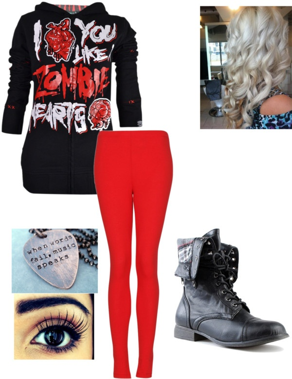 """Emo style"" by www-jessipou-cuty ❤ liked on Polyvore"