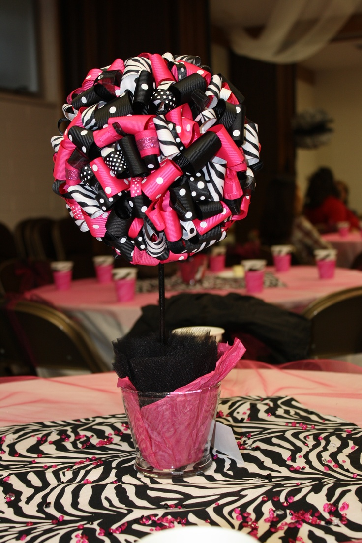 Best zebra centerpieces ideas on pinterest