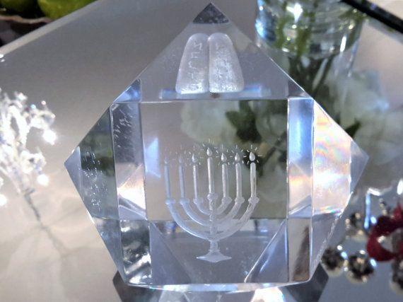 Dekel's Lucite Menorah Cuboctahedron With Ten by vintagesouthwest