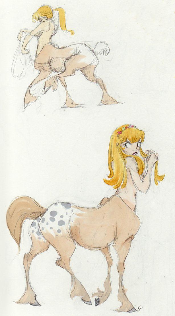 Cartoon Female Centaur Porn - Centaur girls by Polarkeet