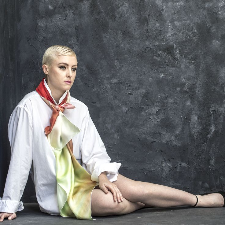 Our silk twill scarves have a luxurious handle. Available at www.silk-art-scarves.com