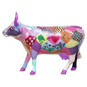 Cows on Parade Patchwork Cow Collectible Figurine