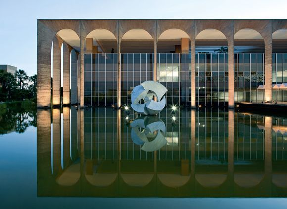 Ministério das Relações Exteriores do Brasil — Palácio do Itamaraty (1959-1970) / Oscar Niemeyer