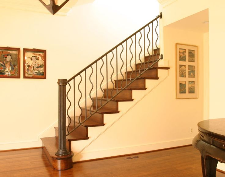 railings for stairs interior | Blacksmith : Custom Designed Stair Railing : Hand Forged Steel ...