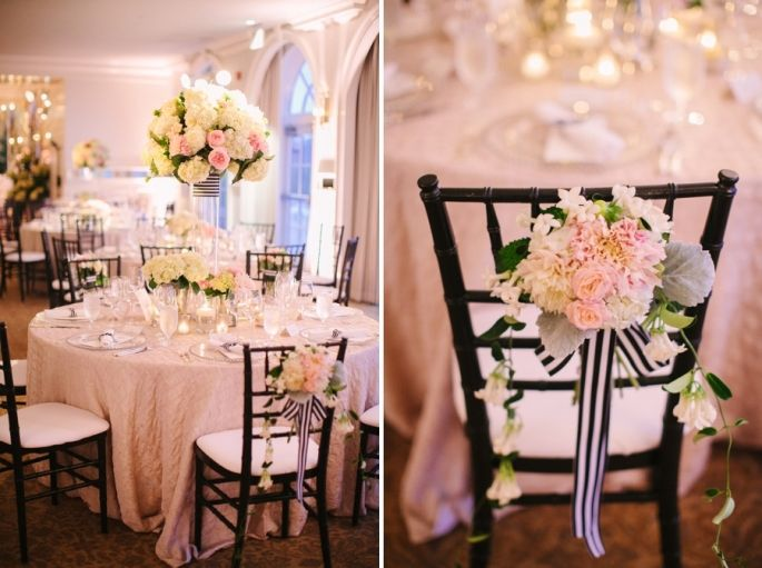 A Black, White  Pink Wedding in August Inspired by Cherry Blossoms