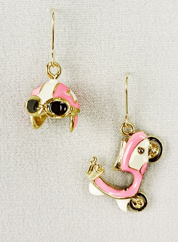 Scooter earrings for my friend with a pink Vespa.