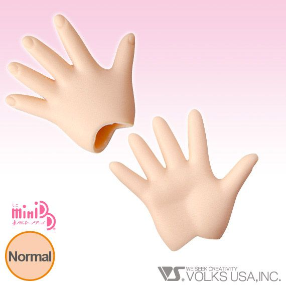 Home :: Dollfie Dream® :: DD Option Parts :: DD Hands (DD-H) :: MDD-H-04 - Paper/Outspread Hands Normal