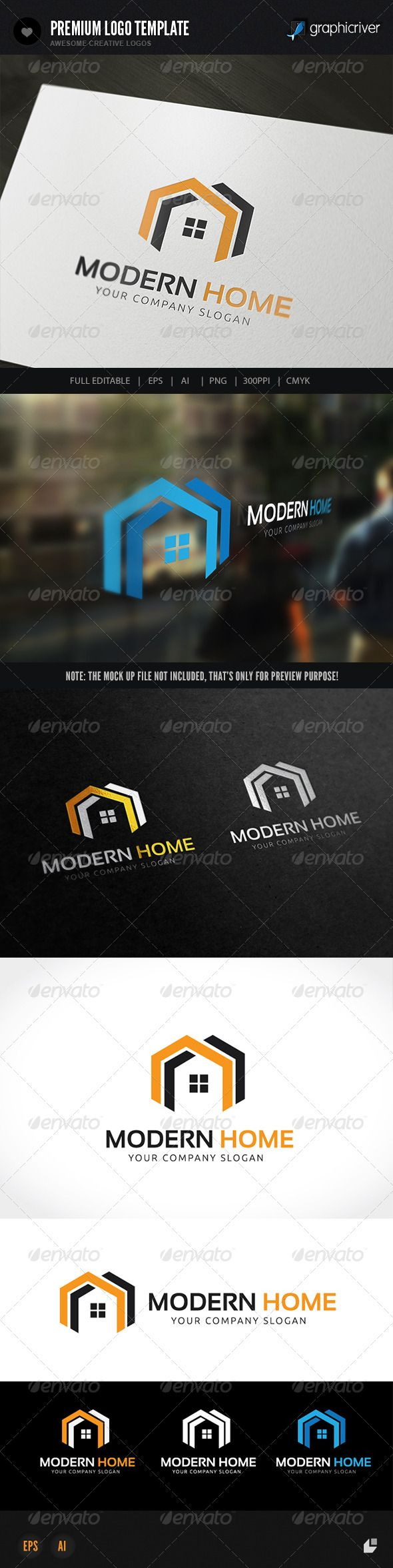 Modern Home — Vector EPS #house #home for sale • Available here → https://graphicriver.net/item/modern-home-/8568592?ref=pxcr