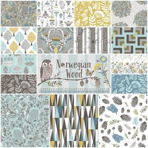 Norwegian Wood Fat Quarter Bundle in Thicket