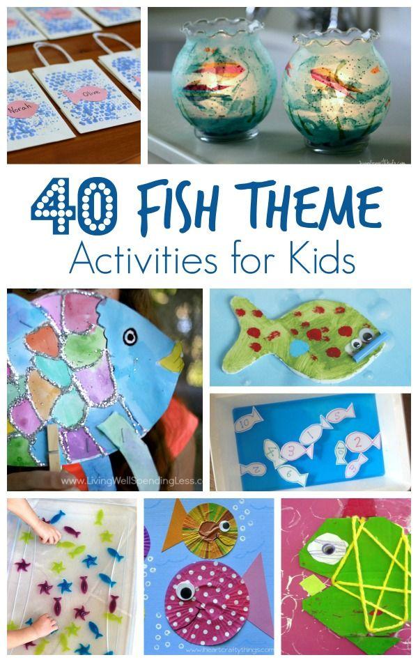 40 Fish Theme Activities for Kids...great for preschoolers and kindergarteners!