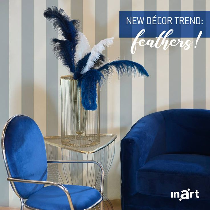Discover the new décor trend: feathers! Find out how to upgrade your home-style with their addition! Read here http://bit.ly/inart_Blog_Feathers