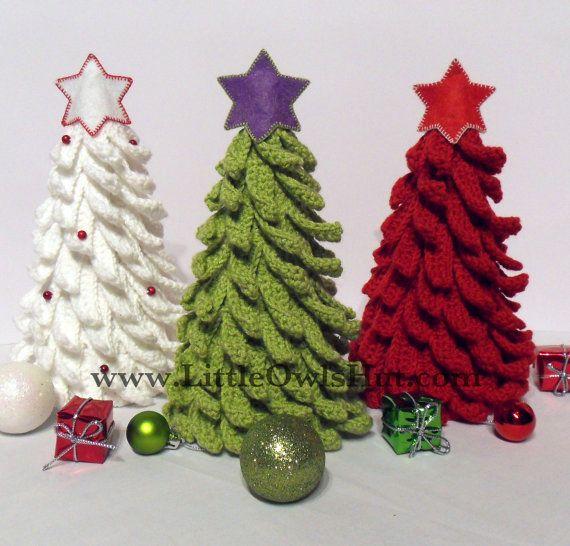 Crochet Christmas Tree Pattern Decoration by LittleOwlsHut on Etsy, $4.50