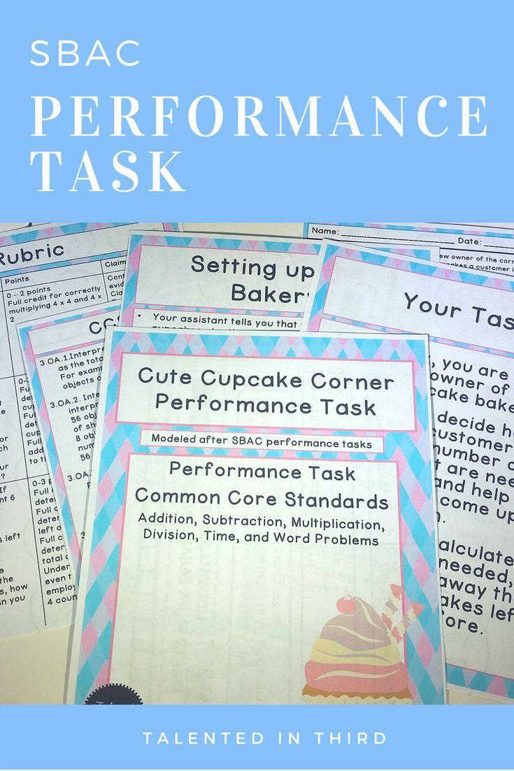 Performance Task - Cute Cupcake Corner   Math, Elementary math and ...