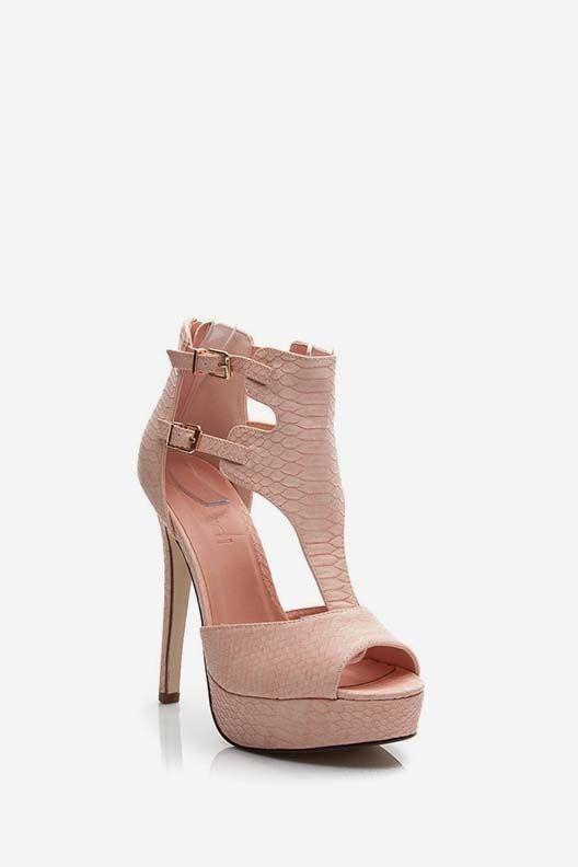 Sandały na szpilce Jennifer różowe