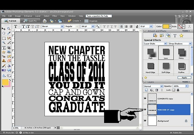 photoshop elements recoloring tutorial and cool graduation subway art