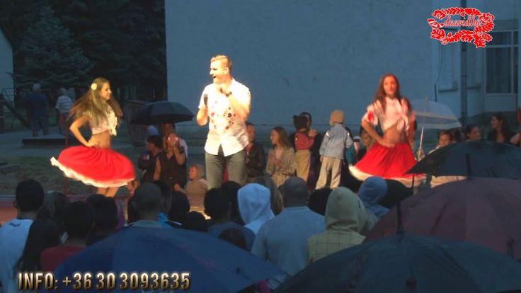 Daavid és a táncoslányok Csökölyben,a falunapon - 2012.07.21