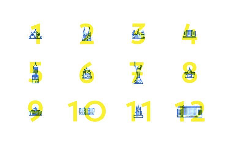 Kyiv icons on Behance