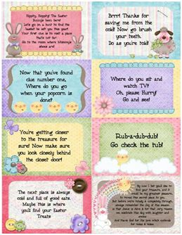 Heritage Makers love this fun Easter Scavenger Hunt made by Amanda Van Leeuwen on an 8.5 x 11 double-sided scrap page.