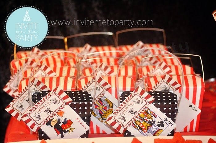 Vintage Magical Party Favour Bag Toppers Invite Me To Party: Vintage Magical Party
