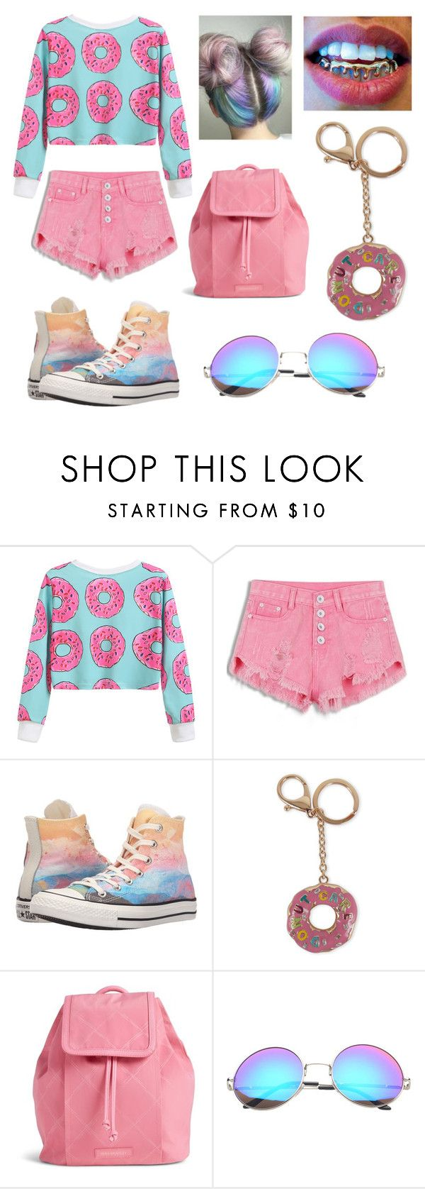 """I Love Donuts 🍩"" by amina-blake on Polyvore featuring Converse, Viola, Vera Bradley and SW Global"