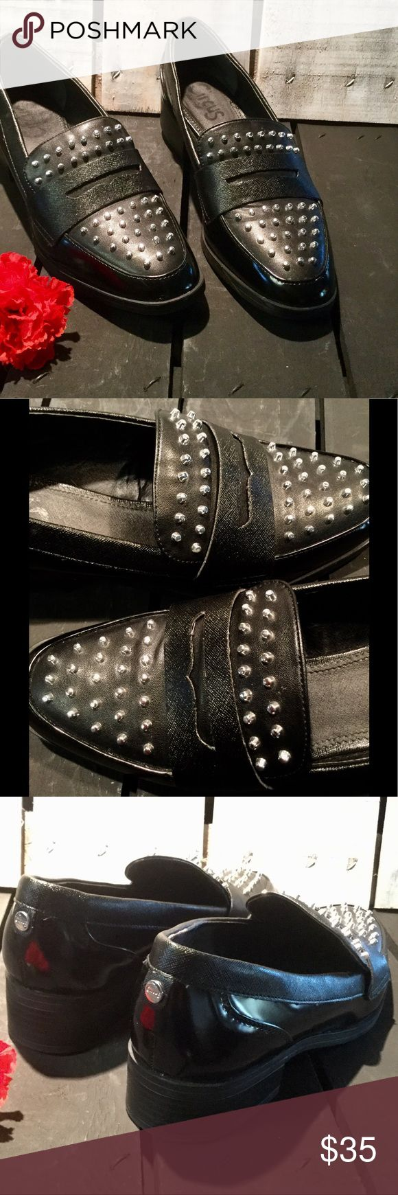 "SAM EDELMAN Black Lali Circus Studded Loafers LALI Circus by SAM EDELMAN ~ Pre-LOVED ~ EXCELLENT condition! ~ SIZE: 9 ~ COLOR: Black ~ HEEL HEIGHT: 1.5"" ~ WIDTH: M ~ Item #: 6161 Sam Edelman Shoes Flats & Loafers"