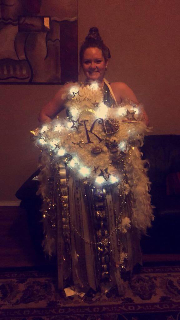 A Beautiful Custom Texas Homecoming Senior Mum From