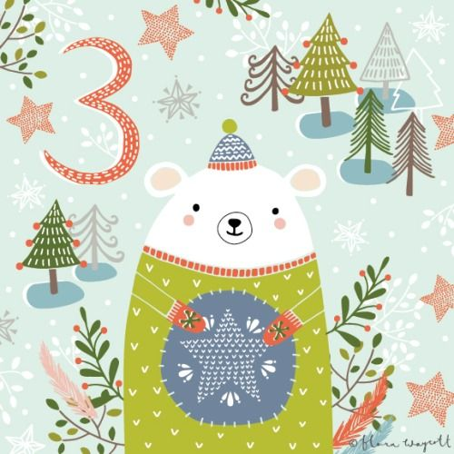DAY 3 - Polar bear friend is pleased with his Christmas jumper!