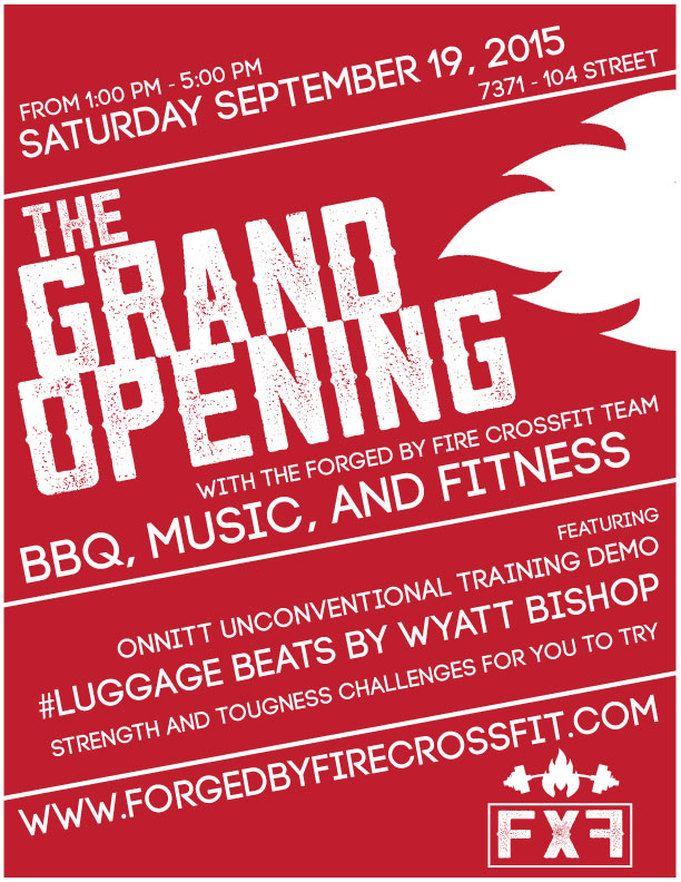 image result for grand opening crossfit flyer gym pinterest