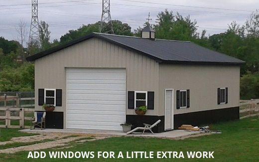 diy pole barn kits with with windows