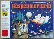 In de spooktoren: Een spel om samen de 24 spookkaartjes te verzamelen voordat de klok 12 uur slaat. Bij iedere foute zet wordt de klok 5 minuten verder gezet.
