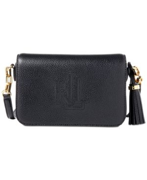 Lauren Ralph Lauren Leather Medium Carmen Crossbody Bag - Black
