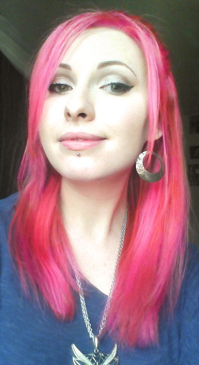 Manic Panic: Pretty Flamingo and Hot Hot Pink mixed in ...